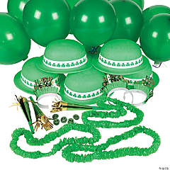 Plastic St. Patrick's Day Party Assortment For 12