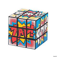 Plastic Superhero Mini Puzzle Cubes
