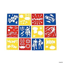 Plastic Superhero Stencils