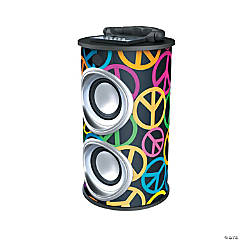 Plastic Supersonic® Peace Sign Portable Bluetooth® Speaker
