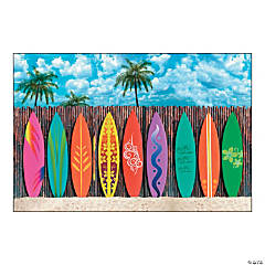 Plastic Surf's Up Surfboard Backdrop Banner