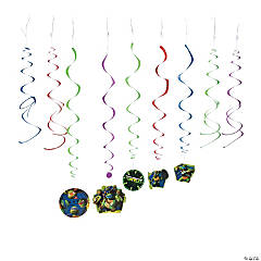 Plastic Teenage Mutant Ninja Turtles Swirl Decorations
