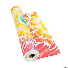 Plastic Tie Dye Tablecloth Roll