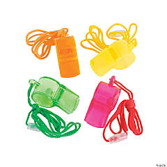 Plastic Transparent Whistles