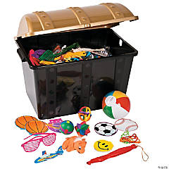 Plastic Treasure Chest with Toys