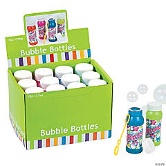 Plastic Tropical Bubble Bottles