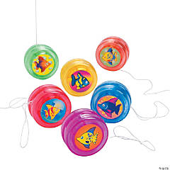 Plastic Tropical Fish Mini YoYos