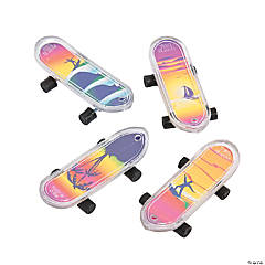 Plastic Tropical Mini Skateboards