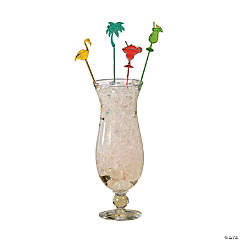 Plastic Tropical Party Stir Sticks