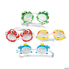 Plastic Tropical Swim Goggles