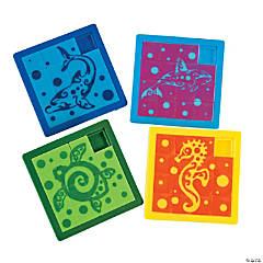 Plastic Tropical Tribal Slide Puzzles