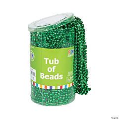 Plastic Tub of Beads