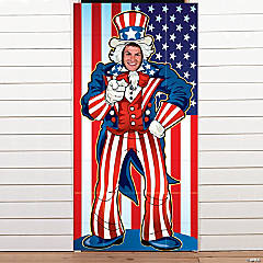 Plastic Uncle Sam Photo Door Banner