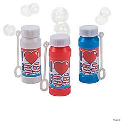 Plastic USA Bubble Bottles