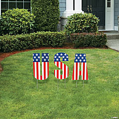 Plastic USA Yard Decoration