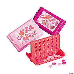 Plastic Valentine Connect Disk Games