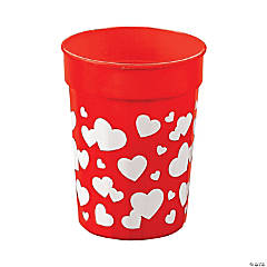 Plastic Valentine Heart Cups