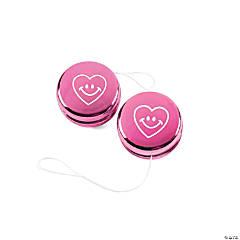 Plastic Valentine Metallic Mini Yo-Yos