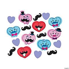Plastic Valentine Mustache Confetti