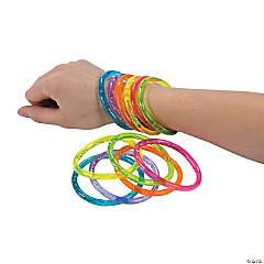 Plastic Water Glitter Bracelets