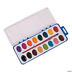 Plastic Watercolor Paint Trays - 16 Color