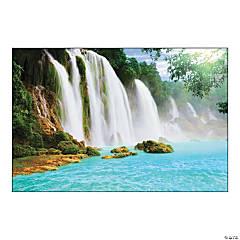 Plastic Waterfall Scene Backdrop Banner