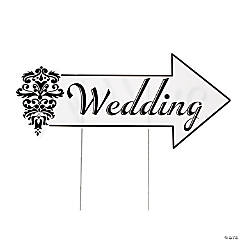 Plastic Wedding Directional Sign