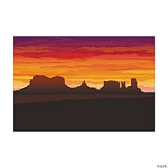 Plastic Western Desert Backdrop Banner