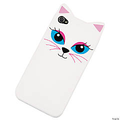 Plastic White Cat iPhone® 4/4S Case