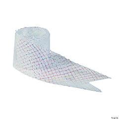 Plastic White Mesh Ribbon