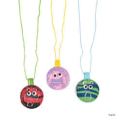 Plastic Wiggle Eye Sand Art Bottle Necklaces