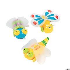 Plastic Wind-Up Flying Bugs