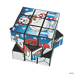 Plastic Winter Magic Puzzle Cubes PDQ