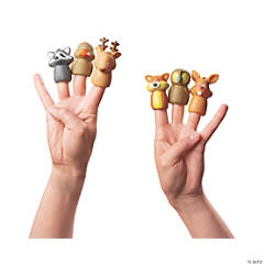 Plastic Woodland Character Finger Puppets