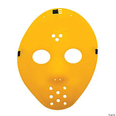 Plastic Yellow Hockey Masks