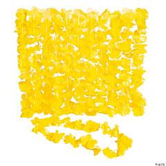 Plastic Yellow Leis