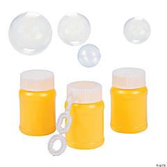 Plastic Yellow Mini Bubble Bottles