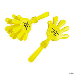 Plastic Yellow Personalized Hand Clappers