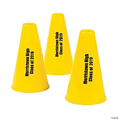 Plastic Yellow Personalized Megaphones