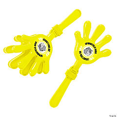 Plastic Yellow Team Spirit Custom Photo Hand Clappers