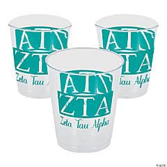 Plastic Zeta Tau Alpha Tumblers - 10 oz.