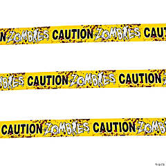 "Plastic ""Zombies Caution"" Party Tape"