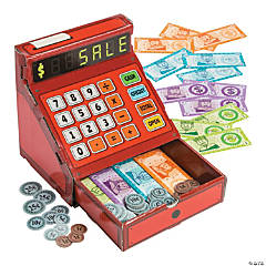 Play Cash Register with Faux Money