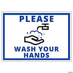 Please Wash Your Hands Peel & Stick Decals