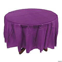 Plum Round Tablecloth