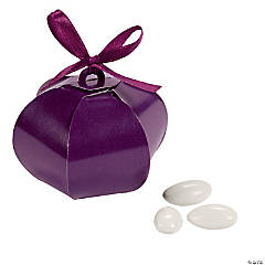 Plum Wedding Sphere Favor Boxes