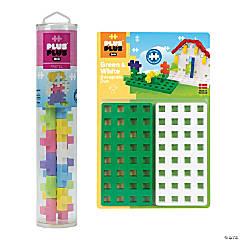 Plus-Plus® BIG 15-Piece Pastel Mix Tube & Baseplate Bundle