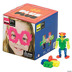 Plus-Plus® Open Play Set, Neon, 600 pieces