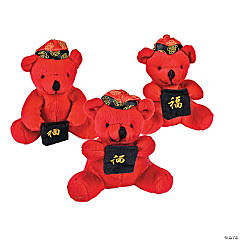 Plush Chinese New Year Bears with Pocket