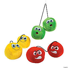 Plush Crazy Emoji Car Dice